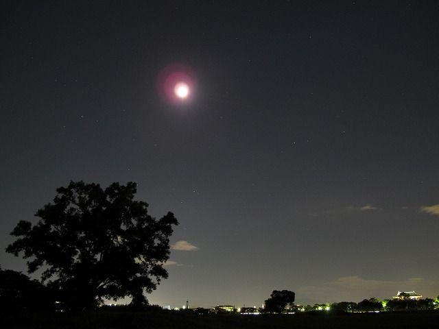 朱雀門、さそり座、月