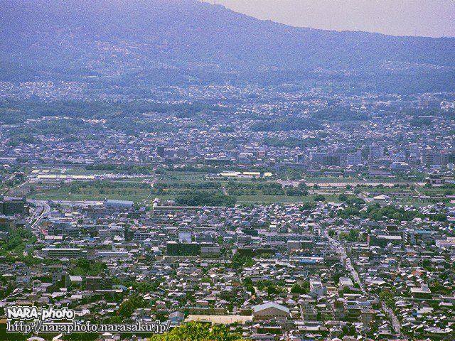若草山山頂から見た平城宮跡