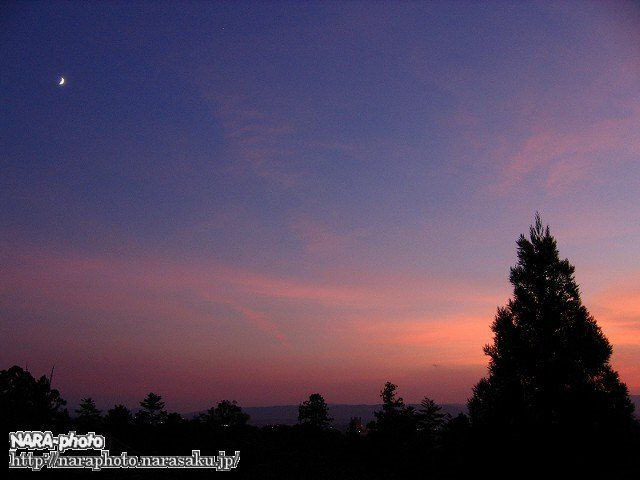 二月堂から見た夕焼け3