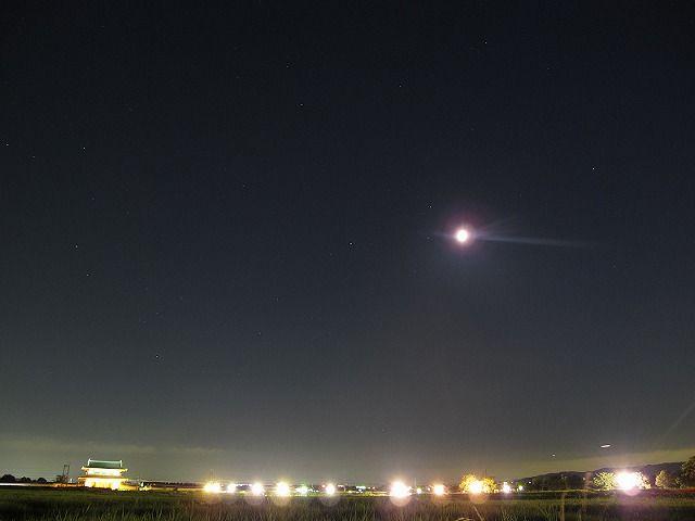 朱雀門、月、さそり座等