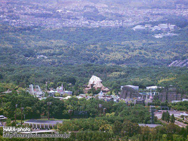 若草山山頂から見た奈良ドリームランド跡