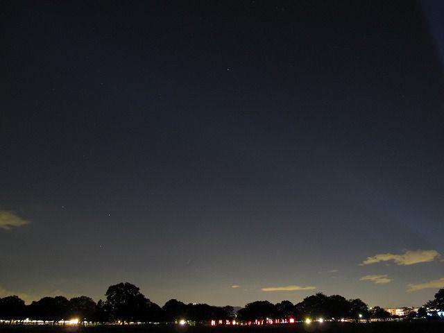 スピカ、土星、火星、春の大三角