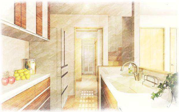 玉越様K~浴室水彩sikaku