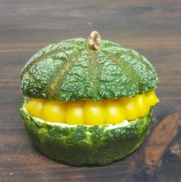 ウーかぼちゃメロンパン