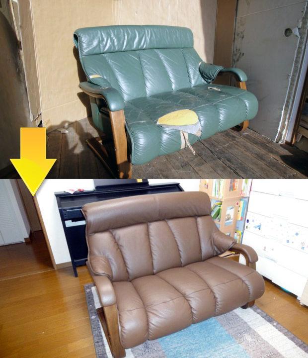 03_ソファーの張替え