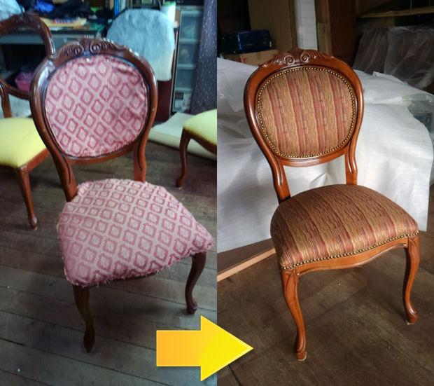 04_食卓椅子の張替え