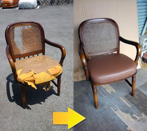 05_籐椅子の張替え