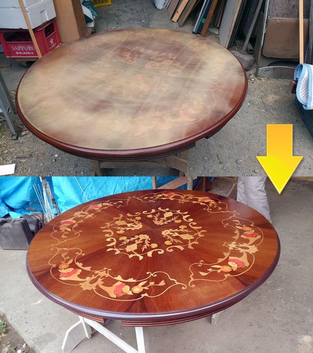 06_テーブル塗装