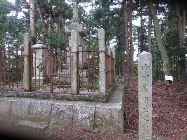 4.中川清秀公墓所