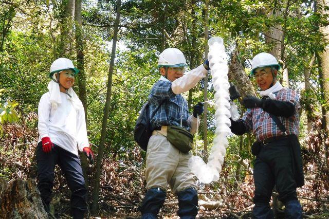 _DSCF0047  咬み切り虫トラップ設置活動のボランティア