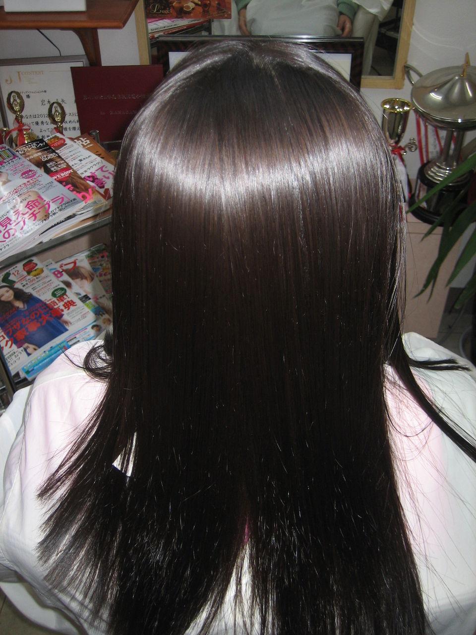 細い髪質の上手な縮毛矯正
