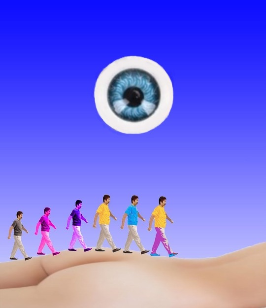歩行、宇宙の目