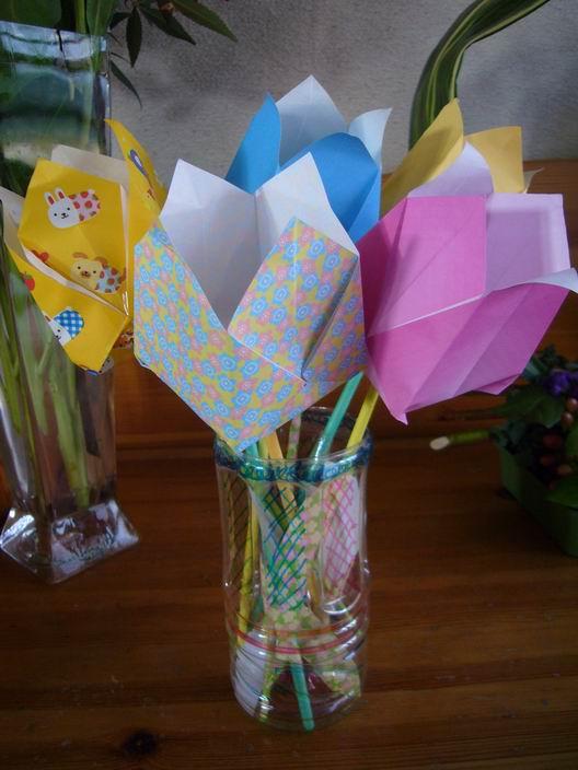 すべての折り紙 折り紙 プレゼント 花束 : ... の花束 - livedoor Blog(ブログ