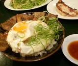 日本一の餃子と焼豚玉子飯