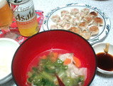焼売と中華スープ