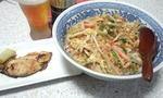 鰆西京焼きと蟹蒲モヤシ丼