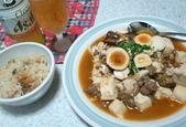 麻婆茄子豆腐と中華味炊き込み