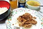 豚肉のレモン炒め