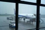 雨の松山空港