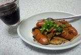 きんぴら味のウィンナー野菜炒め