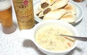 ホットサンドとスープ