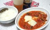 ブリとカボチャのトマト煮