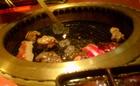 焼肉で火遊び