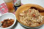 カニカマとモヤシの天津丼