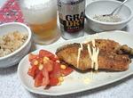 鮭のハーブコーンパン粉焼き