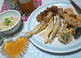シシャモと椎茸の天麩羅