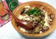 麻婆茄子豆腐丼