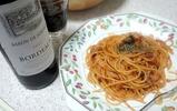アマトリチャーナと赤ワイン