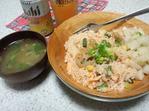 鮭とトウモロコシとレンコンの炊き込みご飯
