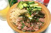 ネギトロ&たたきキュウリ&モヤシ丼
