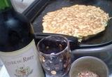 お好み焼きとワイン