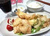 鶏天ぷらにカレー塩