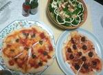 自宅手作りピザ