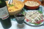カルボナーラ&カルパッチョ&サラダ