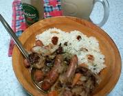 ガーリック&ブラックオリーブ&ドライトマトライス洋風丼