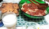 冷製パスタとチーズ焼き