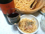 赤ワインとカルボナーラ