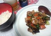 揚げない酢豚と丼飯