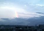 台風中の虹1