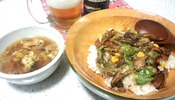 ベーコンレタス丼