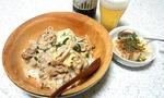 ニラ豚玉丼