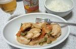 鶏の味噌マヨネーズ炒め