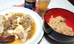 餃子風なもの入り麻婆豆腐