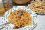 ウインナー入りトマトソースパスタ