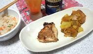赤魚西京焼きとカボチャと大根のカレー煮