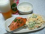 鮭ハーブ焼きとポテトサラダ